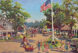 VILLAGE DAY PARADE OSTERVILLE  |  30 x 40 | Acrylic on Canvas  | $3600 Framed