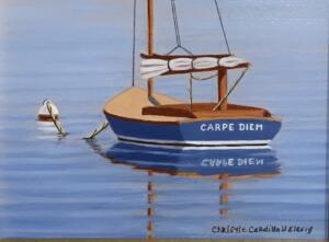 CARPE DIEM  |  Oil on board  |  4 x 5  |  7.5 x 8.5 Framed  |  $375