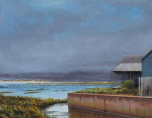 WATERFRONT |  Oil on canvas |  12 x 16 |  18 x 22 Framed |  $950