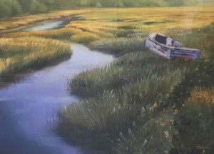 WELLFLEET MORNING  |  18 x 24  |  Pastel on sanded paper  |  24 x 30 Framed  |  $1200