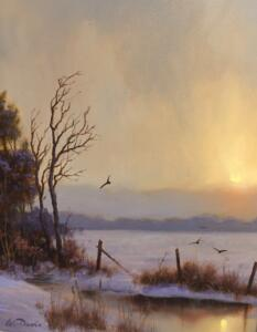 WINTER CROWS   10 x 8   Oil on panel   13.5 x 11.5   Framed   $4800