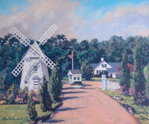 WINDMILL AT OYSTER HARBORS |  20 x 24  | Acrylic on Canvas  | $2100 Framed