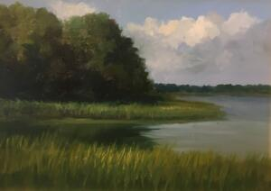 AUGUST AFTERNOON  |  Oil on board  |  9 x 12  |  15 x 18 Framed  |  $900