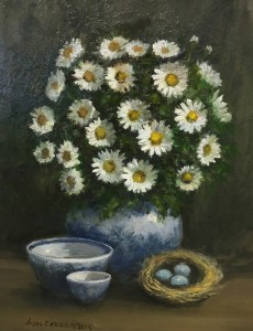 DAISIES  |  oil on canvas  |  10 x 8  |  16 x 14 Framed  |  $700