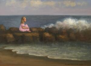 DREAMING OF THE SEA  |  Oil on board  |  12 x 16  |  17.5 x 21.5 Framed  |  $1200