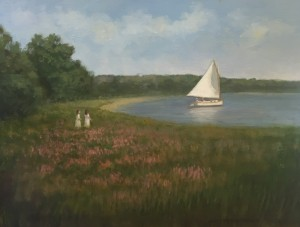 SAIL AWAY  |  Oil on board  |  16 x 20  |  22 x 26  Framed  |  $1200