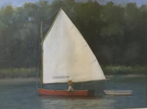 THE RED SAILBOAT  |  oil on board  |  9 x 12  |  16 x 19 Framed  |  $800