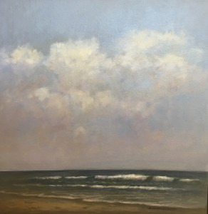 THE SOUND OF THE SEA  |  Oil on canvas  |  18 x 18  |  19.5 x 19.5  Framed  |  $1800