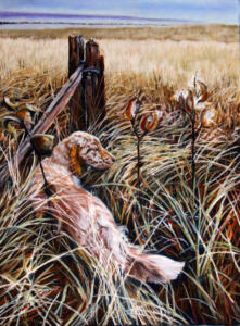 GRACE IN THE TALL GRASS    16 x 20    Pastel on sanded paper     21 x 25 Framed     $900