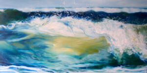THE WEIGHT OF WATER   |  15 x 30  | Oil on Gallery wrapped canvas  | 17 X 22 Framed  | $1500