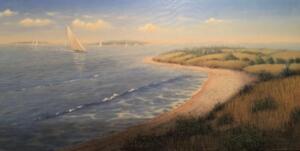 SAILING ON THE CAPE  |  Acrylic on canvas  |  12 x 24  |  17.5 x 29.5  Framed  |  $3900