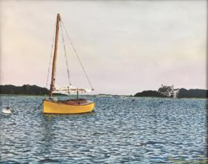 SUMMER EVENING WEST BAY |  Acrylic on Board | $1900 Framed - 23 x 19
