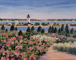 SAILING BY THE LIGHTHOUSE  |  Oil on board  |  8 x 10  |  12 x 14 Framed  |  $1125
